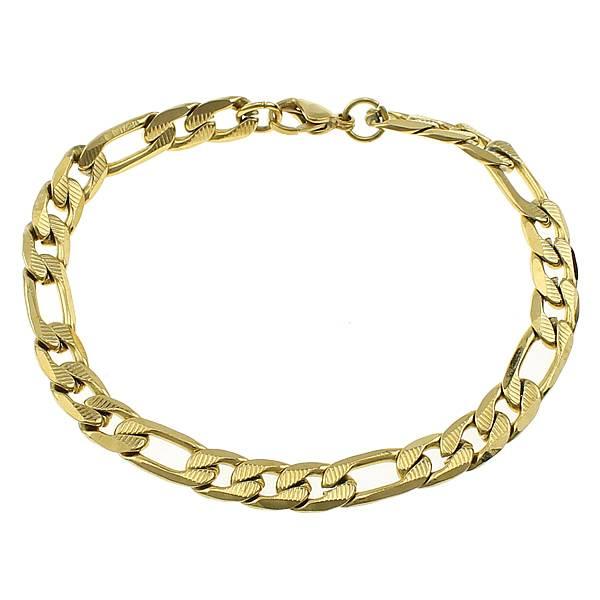 Vrouwen Mannen Ketting Armband Zilver Goud Kleur Figaro Ketting Rvs Bangle Sieraden Accessoires Vrie