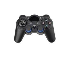 Zwarte draadloze gamepad met USB OTG interface en vervangbare batterijen desgin computer mobiele telefoon joystick game controller