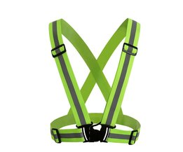 Unisex Reflecterende Riem Veiligheid Vest Hoge Zichtbaarheid Beschermende Vest Kleding Fit Voor Running Fietsen Buitensporten