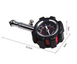 Auto Metalen Bandenspanningsmeter Auto Luchtdruk Meter Hoge Precisie Tester Universele Diagnostic Tool Manometer Barometer