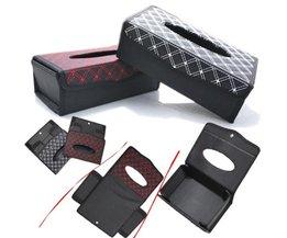 Real 23*12.5 voor CmAuto Styling Pu Tissue doos Papier Opslag Zonneklep Armsteun Type Goede Borduurwerk Luxe accessoires