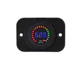 24 V 12 V Auto Motorfiets LED Panel Digitale Voltage Meter Display Auto Voltmeter Panel Waterdicht Volt Meter Gauge voor Boot