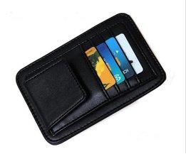 FreeAuto Zonneklep Zonnebril Brillen Glazen Houder Clip Creditcard Pakket ID Opbergtas Met 3 Kleur