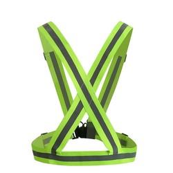 MyXL 360 Graden Hoge Zichtbaarheid Neon Veiligheid Vest Reflecterende Riem Veiligheid Vest Fit voor Running Fietsen Sport Outdoor Kleding