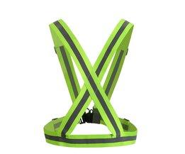360 Graden Hoge Zichtbaarheid Neon Veiligheid Vest Reflecterende Riem Veiligheid Vest Fit voor Running Fietsen Sport Outdoor Kleding