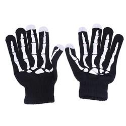 MyXL Winter Warm Volledige Vinger Unisex Mannen Vrouwen Ghost Bone Knit Skelet Smartphone Scherm Handschoen 2 stijlen