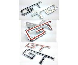 1 stks voor Mustang Chroom Metalen GT Auto Staart Stickers Emblemen Decoraties Volledige Tijd GT 3D Auto Exterieur accessoire