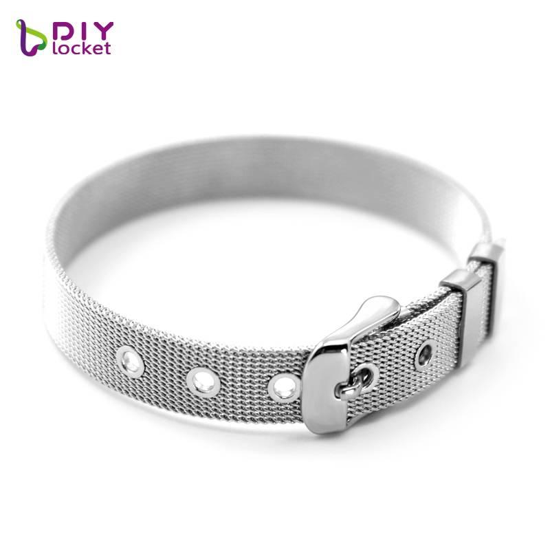 Diylocket 8mm-10mm rvs armbandpolsband armband fit slide charms & letters mannen vrouw sieraden lsbr