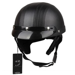MyXL CARCHET Motorhelm Unisex Fiets Helmen Motorfiets Motor Open Gezicht Half Helm + Vizier + Veiligheidsbril