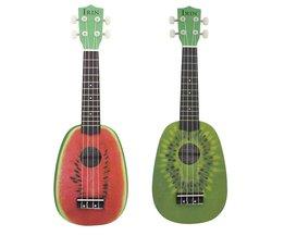 "21 ""Ukelele 4 Strings Ukulele Kleurrijke Mooie Watermeloen Basswood Snaarinstrument Kerstcadeau"