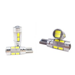 MyXL 2 X T10 LED W5W Auto LED Auto Lamp 12 V Licht bollen met projector lens voor mitsubishi lancer 10 asx outlanderpajero