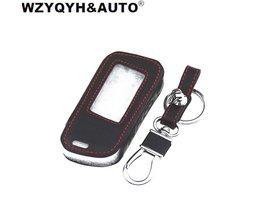 WZYQYH & AUTOA93 Lederen Case Voor Starline A93 A63 Auto alarm Afstandsbediening LCD Sleutelhanger Cover