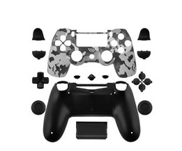 Data Kikker Custom Camouflage Gevallen Voor PS4 Limited Edition Controller Behuizing Shell Voor Sony Playstation 4 Gamepad