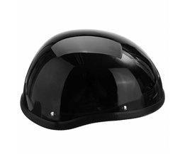 1 Stuk ABS Plastic Motorfiets Helm Motorcross Capacete Half Helm voor Harley Retro Matte Heldere Zwarte