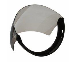 Retro Helm Shield Lens Capacete Motorfiets Open Helm Vintage Vlucht Helm Voor 3-snap Vizier