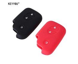 KEYYOU Siliconen autosleutel case Key Case cover Lexus CT200h ES 300 h IS250 GX400 RX270 RX450h RX350 LX570 Klep Sleutel