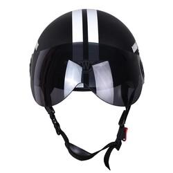 MyXL Motorfiets Half Gezicht Beschermende Helm Visort, Mannen/Vrouwen Volwassen Motor/Fiets/Fietshelmen Side Stars, Half Open Gezicht,