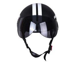 Motorfiets Half Gezicht Beschermende Helm Visort, Mannen/Vrouwen Volwassen Motor/Fiets/Fietshelmen Side Stars, Half Open Gezicht,
