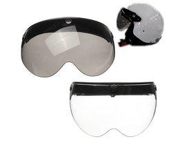 Mofaner Universele Front Flip Up Vizier Wind Shield Lens Voor Open Gezicht Motorhelmen