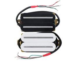 FLEOR 1 STKSRail Dual Blade Gitaar Single Coil Humbucker Pickup Keramische 4-Wires Gitaar Onderdelen Zwart/Wit kiezen
