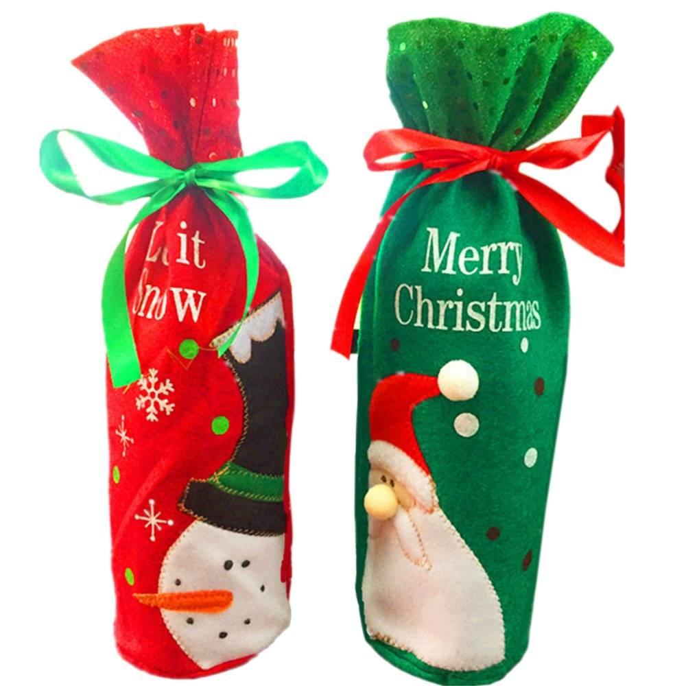 Tijd beperkte Kerstman Wijnfles TasPretty Kerstcadeau Zakken Boom Tafel Decoratie Benodigdheden Xmas