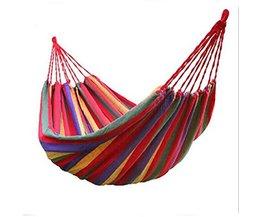 WFGOGO individuele Hangmat Draagbare Camping Tuin Strand Reizen Hangmat Outdoor Ultralight Kleurrijke Katoen Polyester Swing Bed