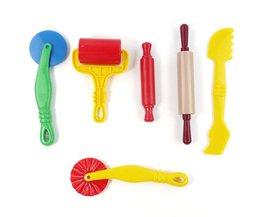 6 stks/set Polymeer Klei Intelligente Plasticine Playdough Modeling Mould Handgum Play Doh Gereedschap Speelgoed Klei Polymeer Mold Kids Speelgoed