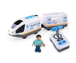Afstandsbediening RRC Trein Set Locomotief Telecontrol Hogesnelheidstrein voor Houten Spoorlijn Speelgoed