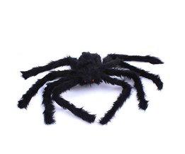 Halloween Huis Decoratie 1 STKoop Grappige Zwarte Spider Props Trick Nep Bugs Scary Prank Speelgoed Halloween Props