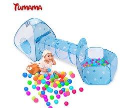 Tumama Kid Speelgoed Tent Opvouwbare 3 in 1 Indoor Ballenbad Tunnelbuis Teepee Tipi Tent Kinderen Baby Adventure Speelhuis Spel tenten