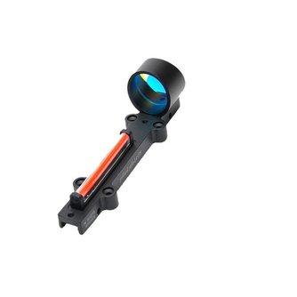 Rood/Groen Fiber Red Dot Sight 1x28 Collimator Sight Fit Shotguns Rib Rail Vent Rib/Rail Schroef Mount Werkt ZONDER Batterij