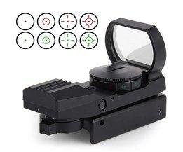 11mm/20mm Dot Rail Jacht Softair Zoeker Optische Scope Holografische Rood Dot Zoeker Reflex 4 Patroon Gun Accessoires