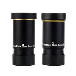 """MyXL 1.25 """"6mm/9mm UWA Oculair Ultra Groothoek 66 Graden Volledig Multi-coated voor astronomische Telescoop"""