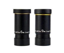"""1.25 """"6mm/9mm UWA Oculair Ultra Groothoek 66 Graden Volledig Multi-coated voor astronomische Telescoop"""