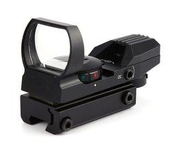 Koop 20mm/11mm Tactical Scope Hunting Optics Riflescope Holografische Red Dot Sight Reflex 4 Reticle Jacht Gun Accessoires