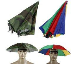 Opvouwbare Vissen Hoed Cap Hoofddeksels Paraplu voor Vissen Wandelen Strand Camping Cap Hoofd Hoeden Buitensporten Regenkleding