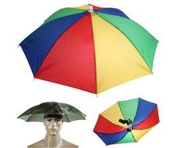 Draagbare Usefull Paraplu Hoed Zonnescherm Waterdicht Outdoor Camping Wandelen Vissen Festivals Parasol Opvouwbare Brolly Cap 55 cm