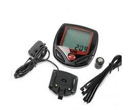 Digitale Fiets LCD Fietsen Computer Kilometerstand Snelheidsmeter Stopwatch BU