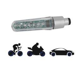 Dubbelzijdige LED Tyre Wheel Valve Flash Licht Brief Veranderen van Spaakwiel 7 LED Licht Voor Fiets Motorfiets En auto