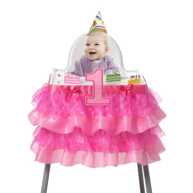 Zitstoel Voor Baby.Vieren Een Jaar Oude Kind Verjaardag Stoel Cover Voor Eenvoudige