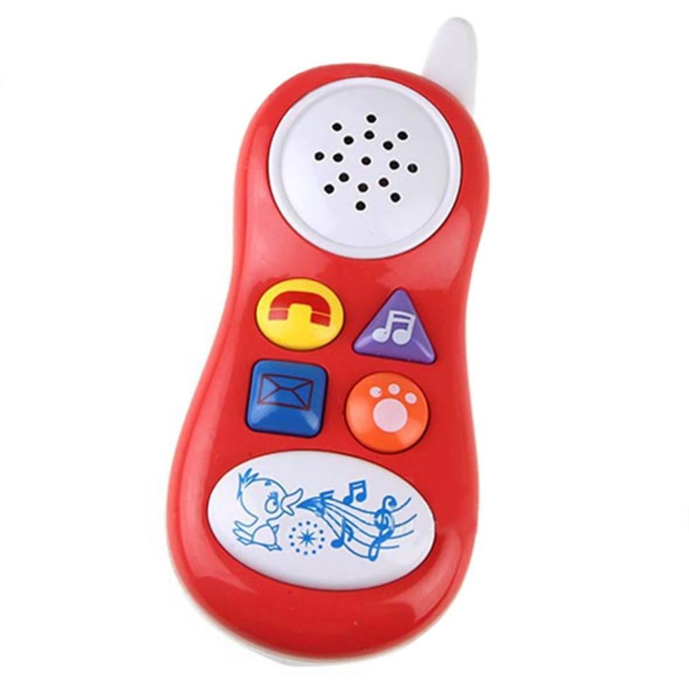 Simulatie Muziek Telefoon Speelgoed Baby Kids Elektronica Musical Box Mobiele Telefoon Model Geluid