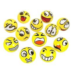 MyXL 12 stks/partij Moderne FUN Emoji Gezicht Squeeze Ballen Stress Relax Emotionele Hand Pols Oefening Anti-stress Ballen Speelgoed voor kinderen