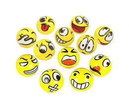 12 stks/partij Moderne FUN Emoji Gezicht Squeeze Ballen Stress Relax Emotionele Hand Pols Oefening Anti-stress Ballen Speelgoed voor kinderen