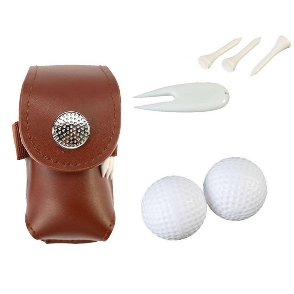Leer Golfbal Zak Houder Clip Kleine Taille Pack Utility Pouch Sport Golf Training Accessoires met Ba