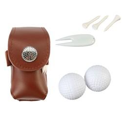MyXL Leer Golfbal Zak Houder Clip Kleine Taille Pack Utility Pouch Sport Golf Training Accessoires met Bal Tees Pitchfork