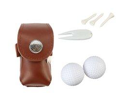 Leer Golfbal Zak Houder Clip Kleine Taille Pack Utility Pouch Sport Golf Training Accessoires met Bal Tees Pitchfork