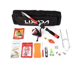 Lixada 2.1 m Hengel Reel Combo Volledige Kits Spinning Reel Pole Set Met Lokken Draaibare Tool Set In Bag Case Visgerei Pesca