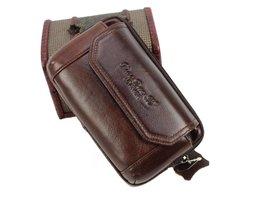 Mode Mannen Lederen Vintage Mobiele/Mobiele Telefoon Geval skin Hip Belt Bum Purse Fanny Pack Taille Bag Pouch