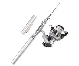 1 m Draagbare Hengel Combo Set Pen mini hengel set voor river lake zee vissen 1 set = staaf pen + spinning reel