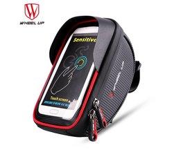 WIEL UP Waterdichte Sport MTB Racefiets Voor Tas 6.0 inch Touchscreen Bike Cellphone Bag Fiets Top Tube Pannier Fietsen Pouch